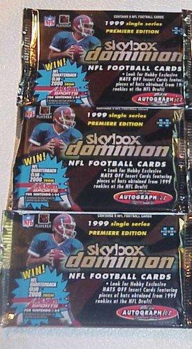 3 packs new 1999 SKYBOX DOMINION football HOBBY NFL