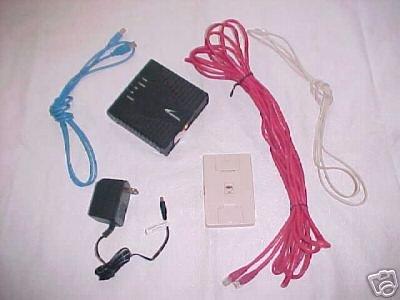 Westell Wind River 6100 DSL modem USB router -90-610030