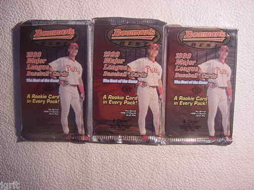 3 new 1999 BOWMANS BEST baseball HOBBY PACK - sealed