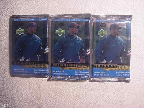 3 new 2000 UPPER DECK baseball RETAIL PACK - sealed