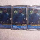 3 new 2000 UPPER DECK baseball RETAIL PACK - sealed