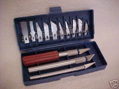 New razor sharp hobby knife KNIVES cutting SET w/case
