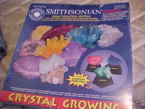 complete Giant 9 CRYSTAL GROWING lab set w/6 pedistals
