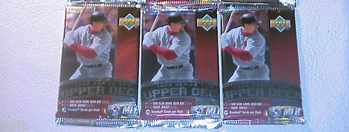 3 new 1999 UPPER DECK series 2 baseball PACKs sealed