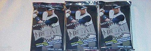 3 new 2000 SKYBOX METAL MLB baseball PACK sealed