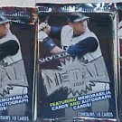 3 new 2000 SKYBOX METAL MLB baseball PACK sealed