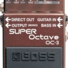 BOSS OC 3 Super Octave guitar stomp effects pedal OC3