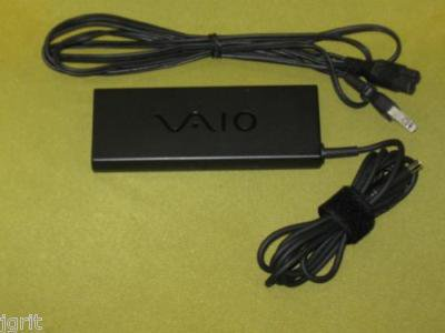 slim SONY VAIO PCGA AC16V6 adapter cord - laptop notebook battery charger brick
