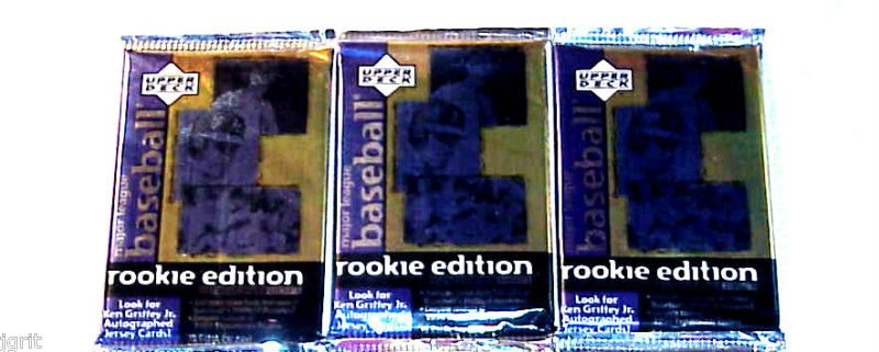 3 new 1998 ROOKIE EDITION baseball ser.3 series three PACK packs - sealed NEW