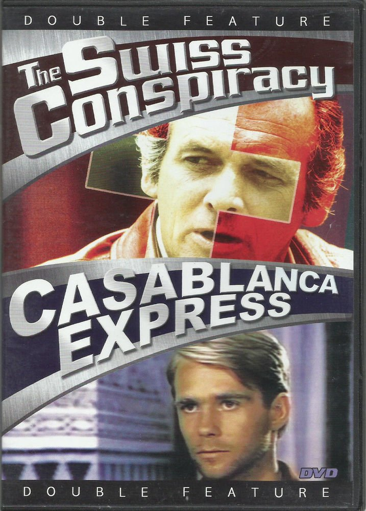 Swiss Conspiracy & Casablanca Express DVD COLOR movies Glenn FORD David JANSSEN