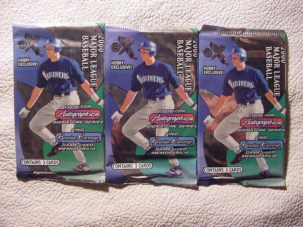 3 new 2000 EX HOBBY baseball packs PACK - sealed