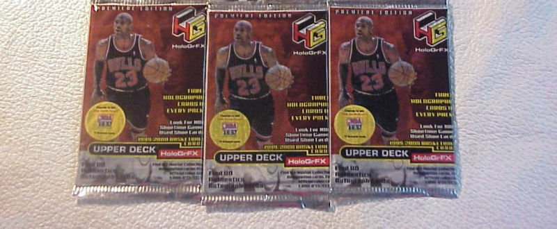 3 (three) PACKS new 1999 2000 UD HoloGrFX basketball 99-00 PACK unopened sealed