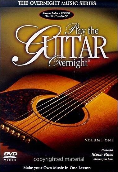 new - Play the Guitar Overnight, Volumn 1 beginner basics 2 DVD's 2-disc learn