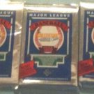 three (3) new 1989 UPPER DECK baseball FOIL PACKS sealed - new