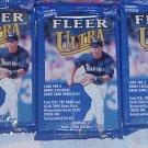 3 new 2000 Fleer ULTRA baseball HOBBY PACK packs - factory sealed new