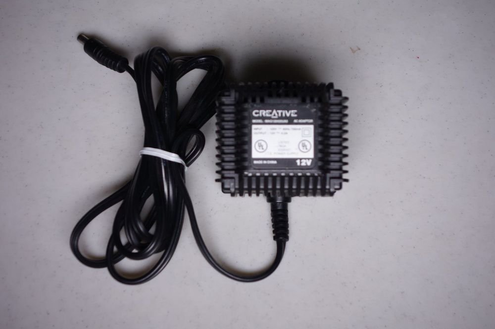 12v ac Creative adapter cord =Inspire speakers digital 5500 pc computer MP3 plug