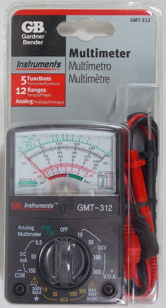 Gardner Bender Pocket-Size Analog Multi meter Tester GMT-312 New In Package