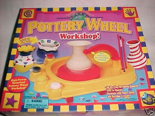 complete hand clay POTTERY WHEEL set w/ AC ELECTRICAL ADAPTER POWER SUPPLY