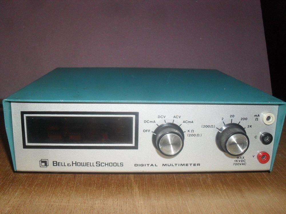 HEATH Bell Howell Heath Schools Digital Multi meter IMD 202 2 multi tester volt