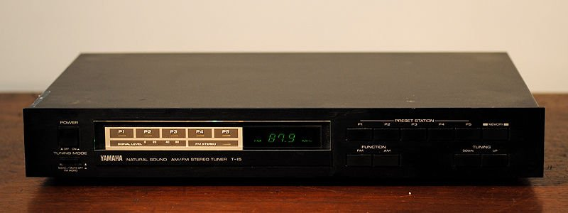 Yamaha T 15 Natural Sound FM AM STEREO TUNER quartz DIGITAL 5 Station Memory T15