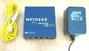 EN104TP NETGEAR fast ethernet router modem switch 4 port hub 10MBPS EN 104 TP