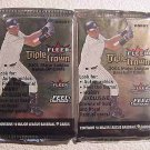 2001 FLEER TRIPLE CROWN baseball HOBBY PACK - 2 packs sealed