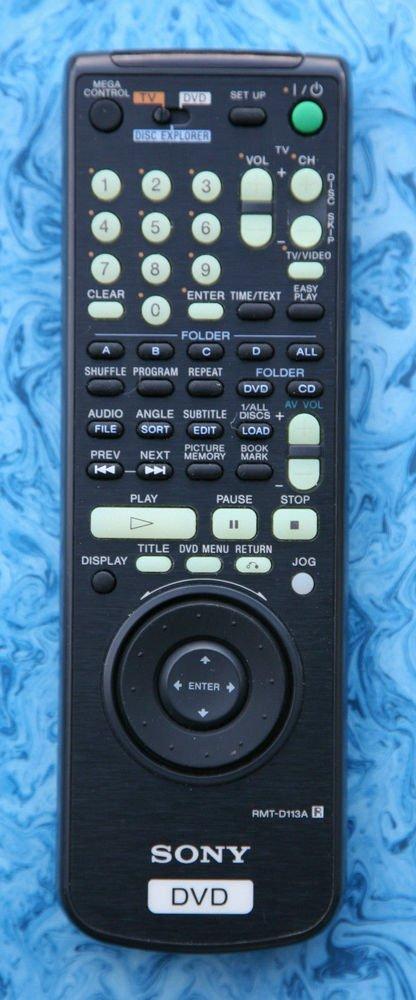 Sony remote controller unit RMT D113A = TV DVP CX850D CX8 DVPCX850D DVD player