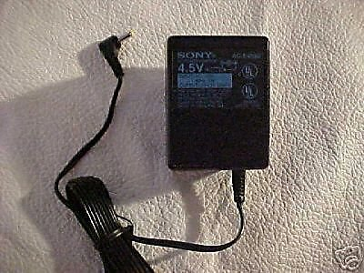 Sony power supply 4.5v 4.5 volt = Minidisc CD MP3 MD MZR3 cable plug VAC VDC PSU