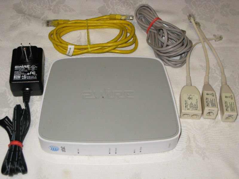AT T 2WIRE 2701HG B Gateway WIRELESS modem ROUTER DSL WiFi ATT ethernet 4 port