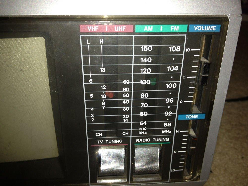 Emerson ac dc portable combination COLOR TELEVISION AM/FM radio receiver battery