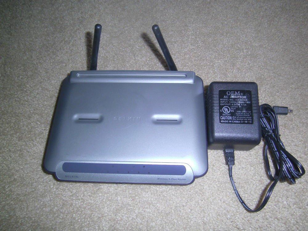 Belkin F5D7231 4 port Wireless G Router 54 Mbps 10/100 hub