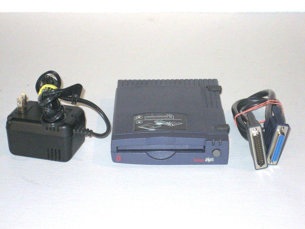 Iomega Zip 100 P2 solid blue External Drive DDX Z100 P2 PC MAC MB parallel ports
