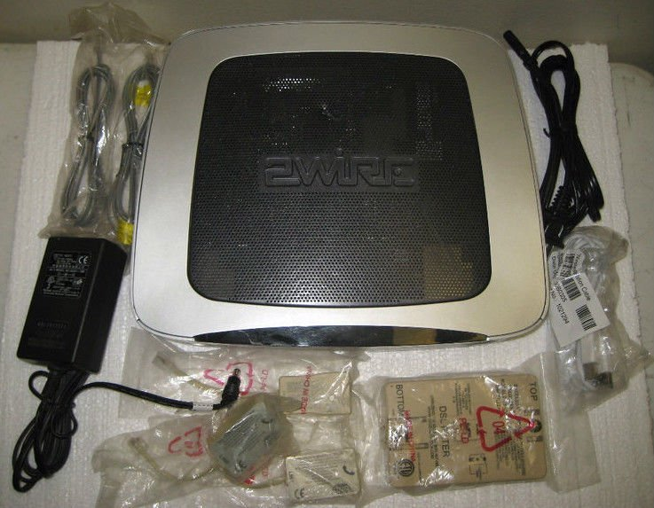2WIRE 3600 HGV gateway WIRELESS modem ROUTER DSL AT T U verse WiFi ethernet MAC