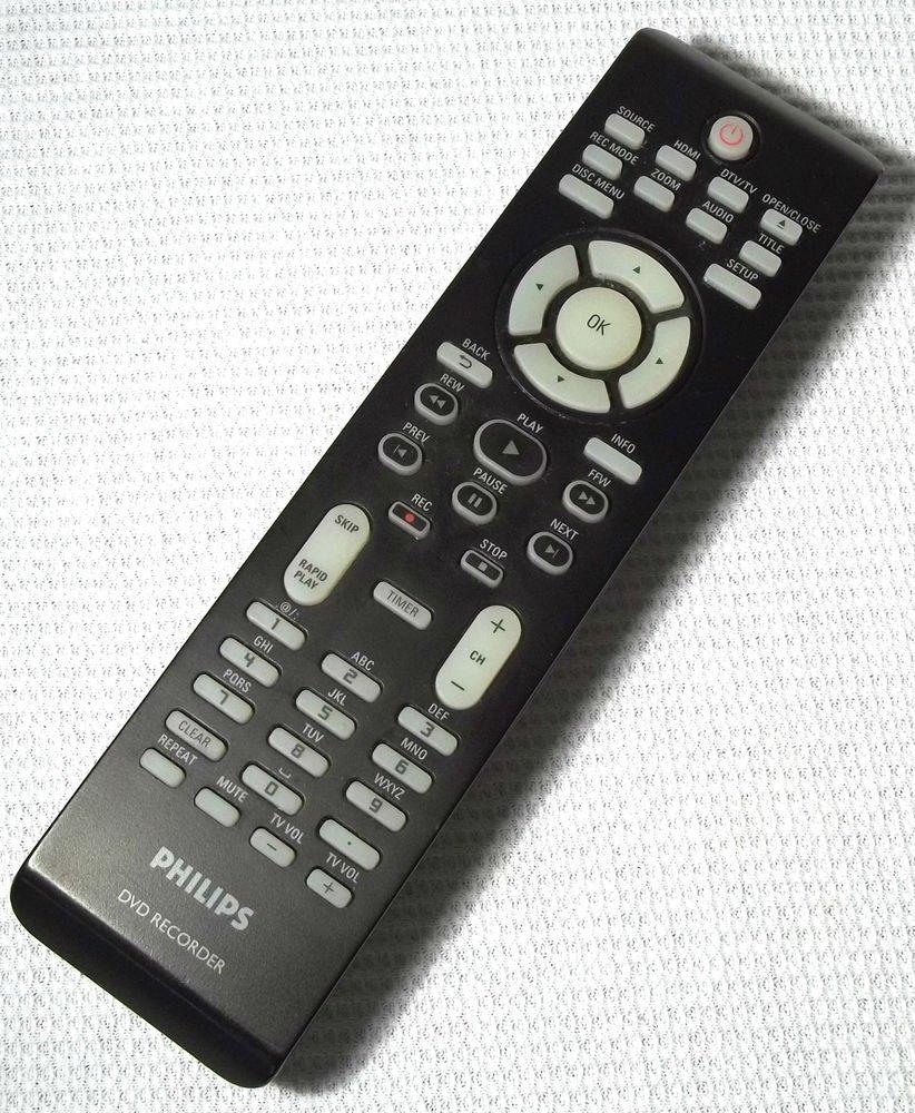 Philips DVD RECORDER remote control - TV VCR DTV HDMI dubbing timer skip search
