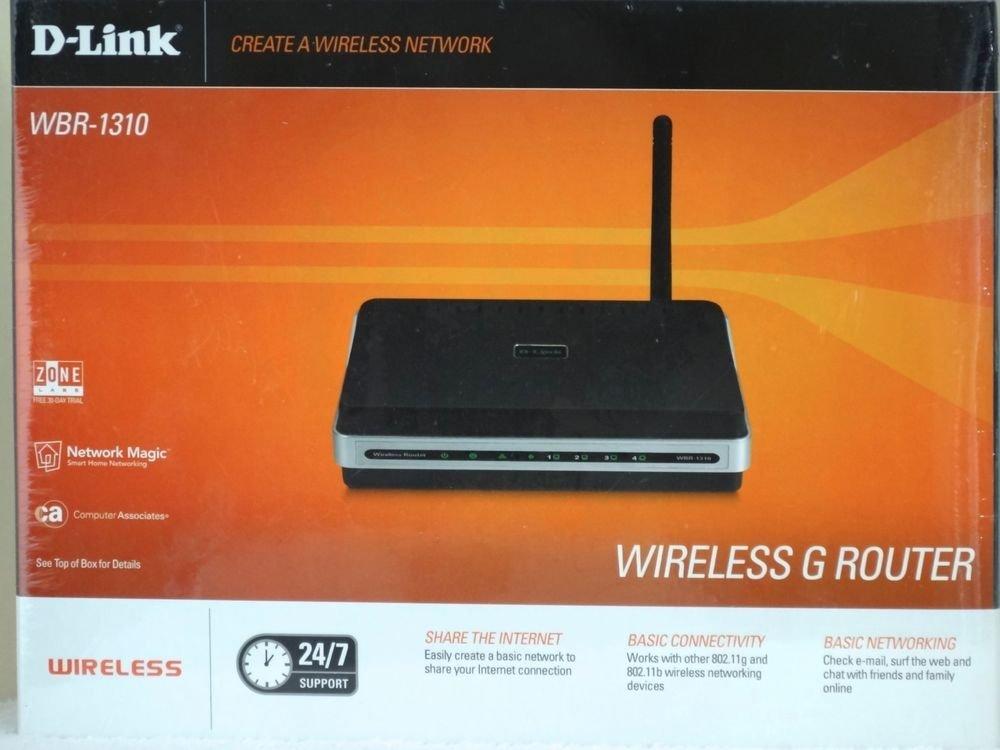 D Link WBR 1310 4-Port 10/100 Wireless G Router switch wbr1310 dlink