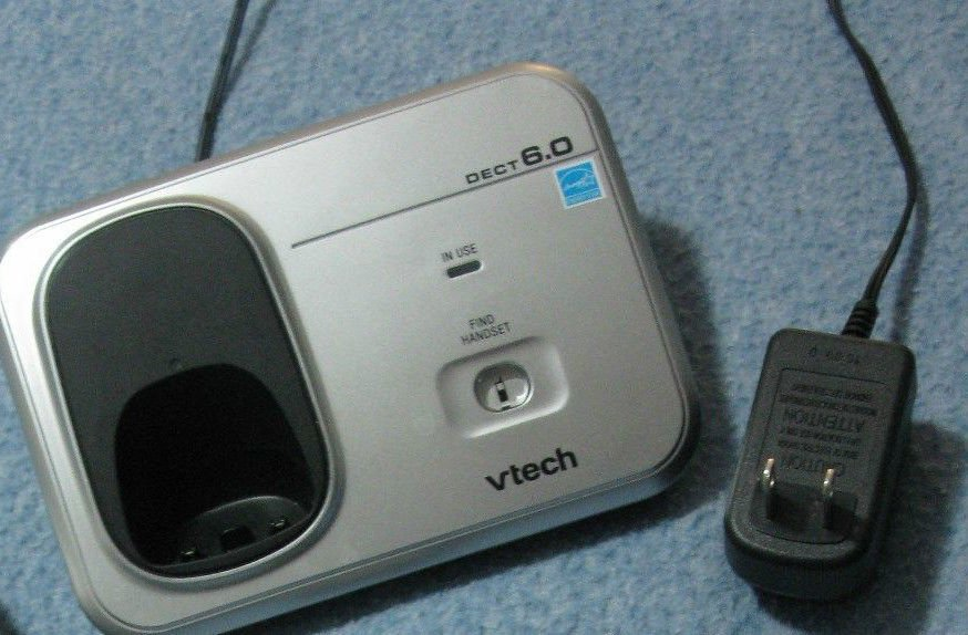 Vtech CS6319 2 main charging base w/P - CORDLESS charger tele phone stand cradle
