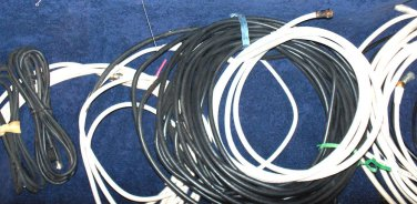 25 standard screw on coaxial cords (4ft+) cables bunch box full satellite wires