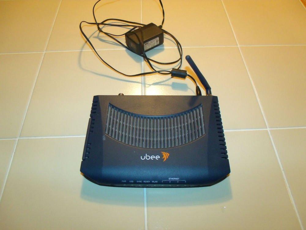 ubee U10C037 cable modem DDW2600 ethernet USB PC Mac internet enet router WLAN