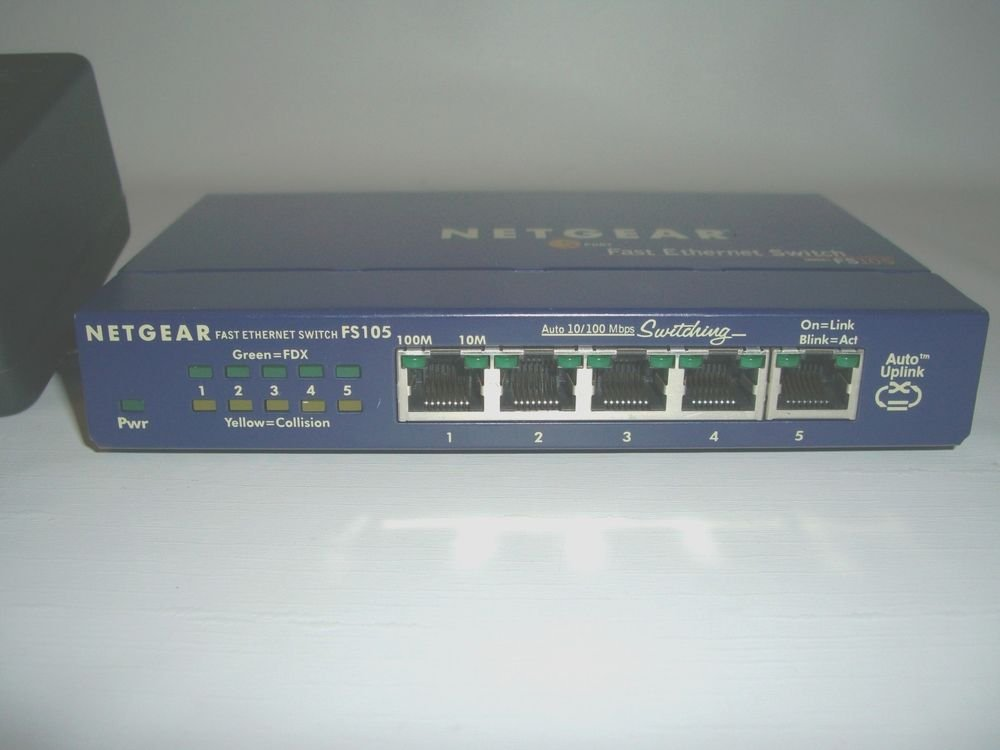 FS105 auto uplink NETGEAR fast ethernet router switch FS 105 10/100 MBPS 5port