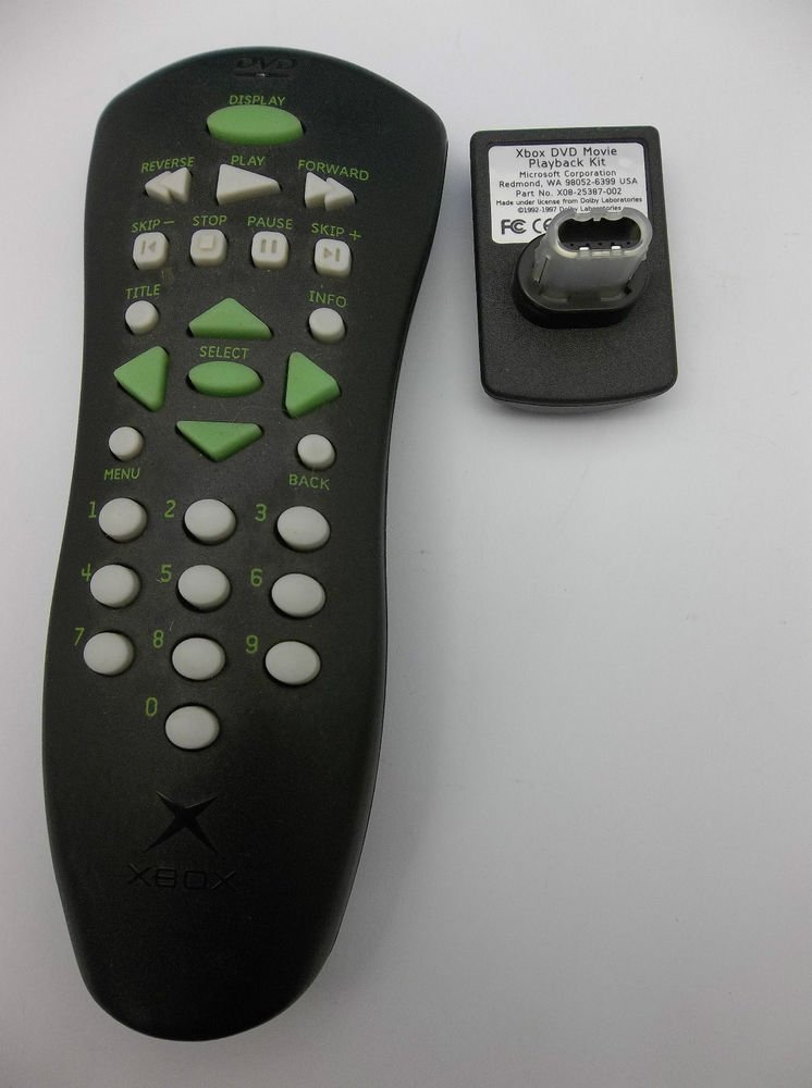 XBOX REMOTE CONTROL w/ADAPTER - game console DVD movie genuine original TV video