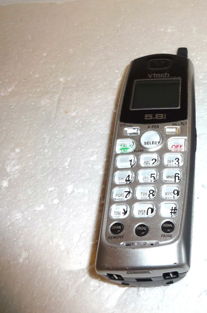 Vtech IA5870 Handset - CORDLESS PHONE v tech charging ac dc VAC telephone remote