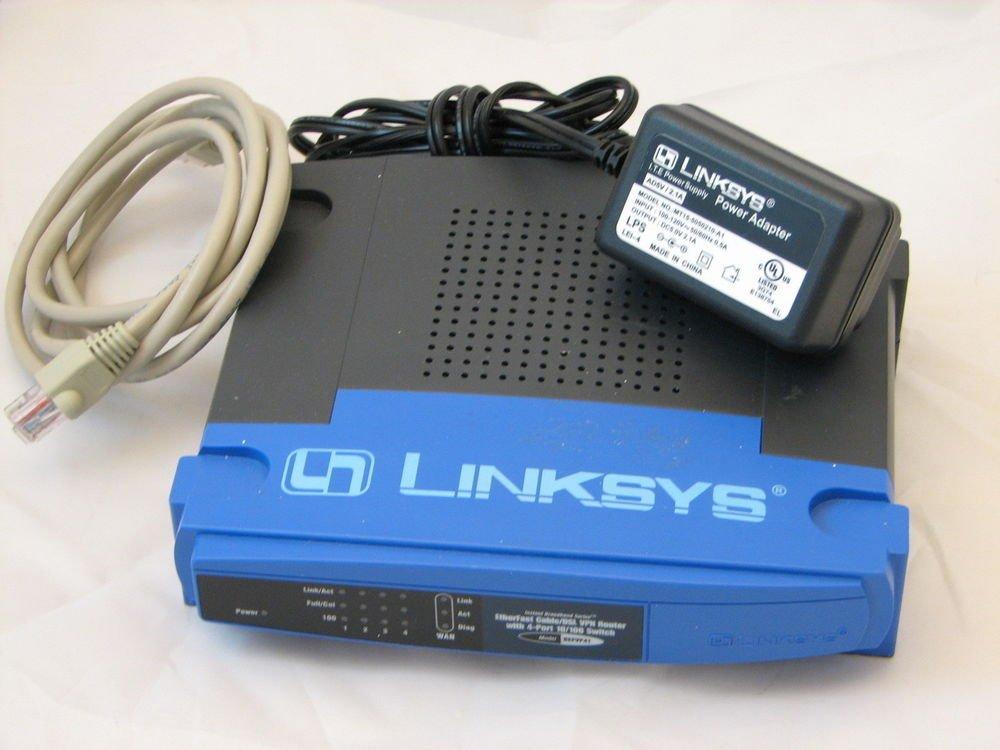 BEFSR11 Linksys EtherFast LAN cable broadband WAN DSL router ethernet Cisco PC