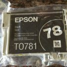 Epson 78 BLACK ink cartridge - Photo Stylus R260 R280 R380 RX580 RX595 printer