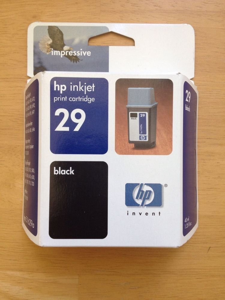 29 BLACK ink jet cartridge HP FAX 910 920 PSC 370 380 deskwriter 660 680 printer