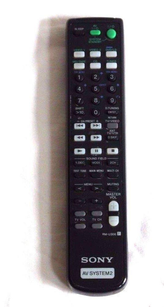 Sony RM U306A AV SYSTEM2 Remote Control - STR DE495 STR DE595 receiver DVD CD