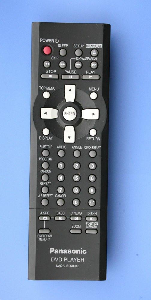 PANASONIC remote control N2QAJB000043 = DVD RP62 RP62S RP62P RV32 RV32K players