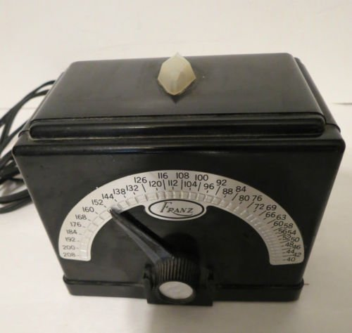 FRANZ Manufacturing Company electric Metronome 110 Volt Model LM FB 4 BakeLite