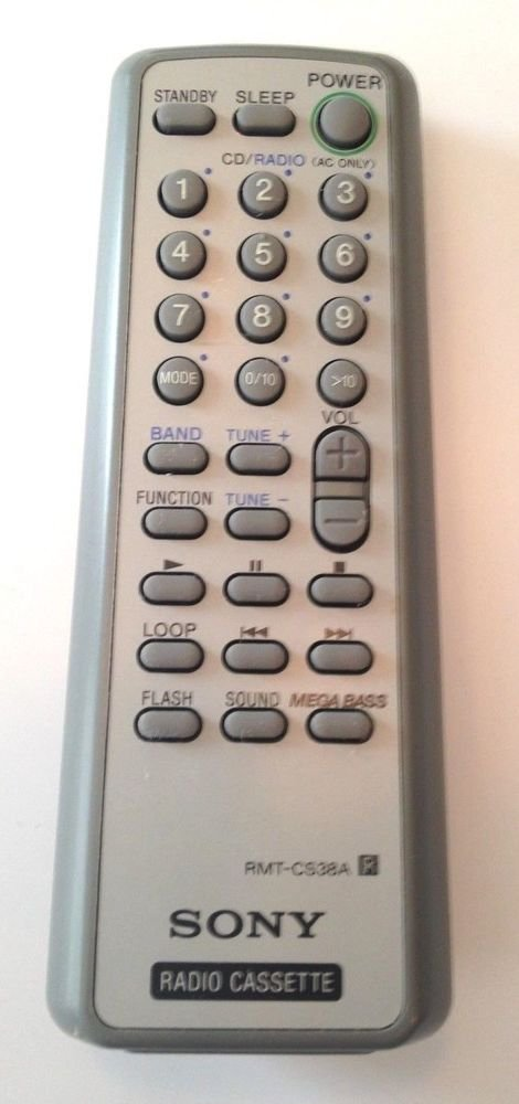 SONY RMT CS38A remote control = CFD S28 CFD S38 CFD S39 Radio Cassette MEGA BASS