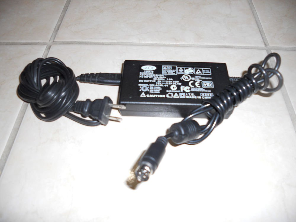 12v 5v adapter cord = ACML 51 LACIE SUNFONE hard disk drive brick ac power PSU