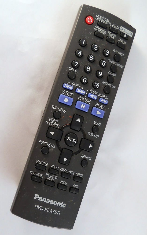 PANASONIC UR76EC3103 REMOTE CONTROL - DVD player black wireless infrared